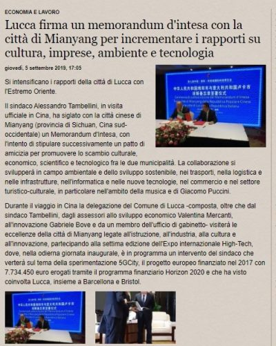 Lucca Cina 5G